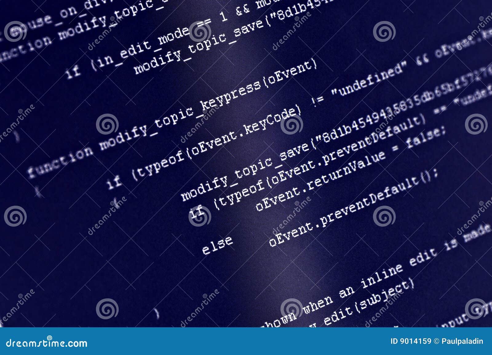 De code van het programma