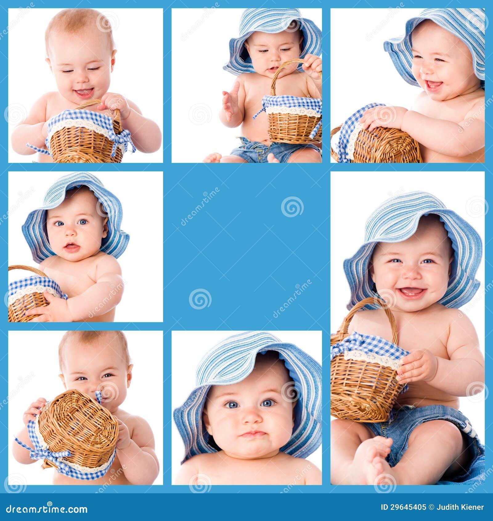 De collage van de baby