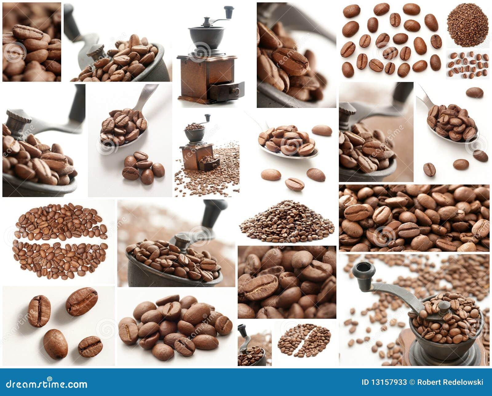 De collage van de koffie