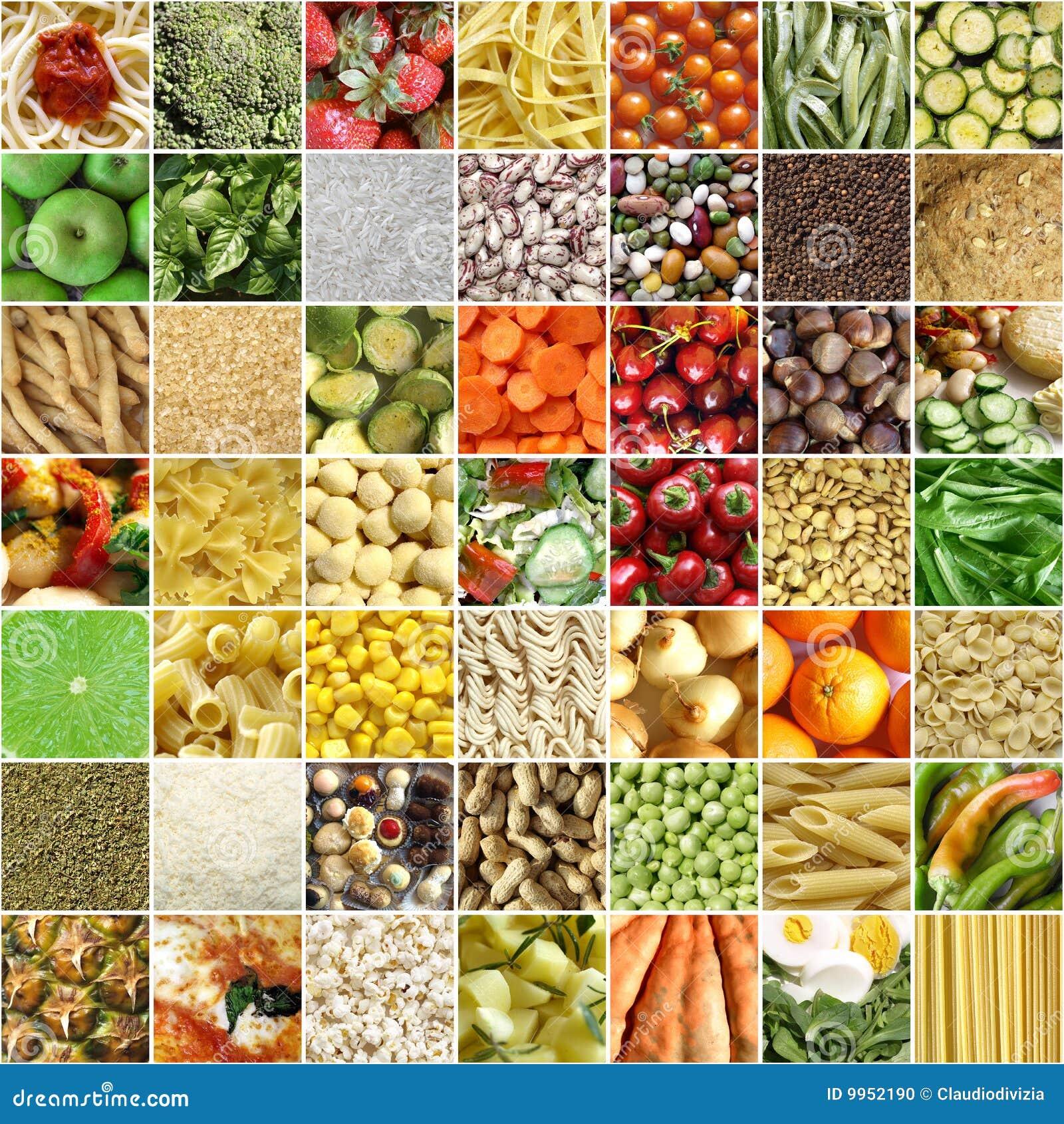 De collage van het voedsel stock foto afbeelding 9952190 for Alimento para cachamas