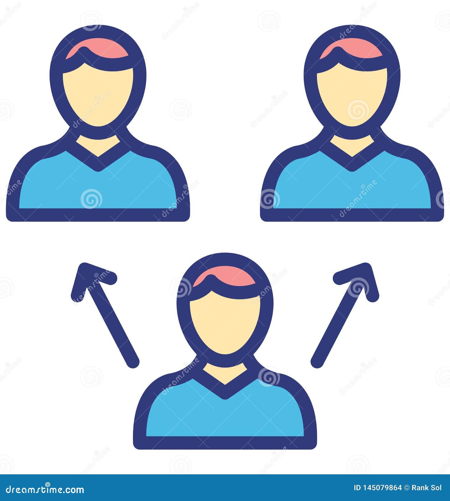 De collectieve ethiek isoleerde Vectorpictogram dat zich gemakkelijk kan wijzigen of uitgeven