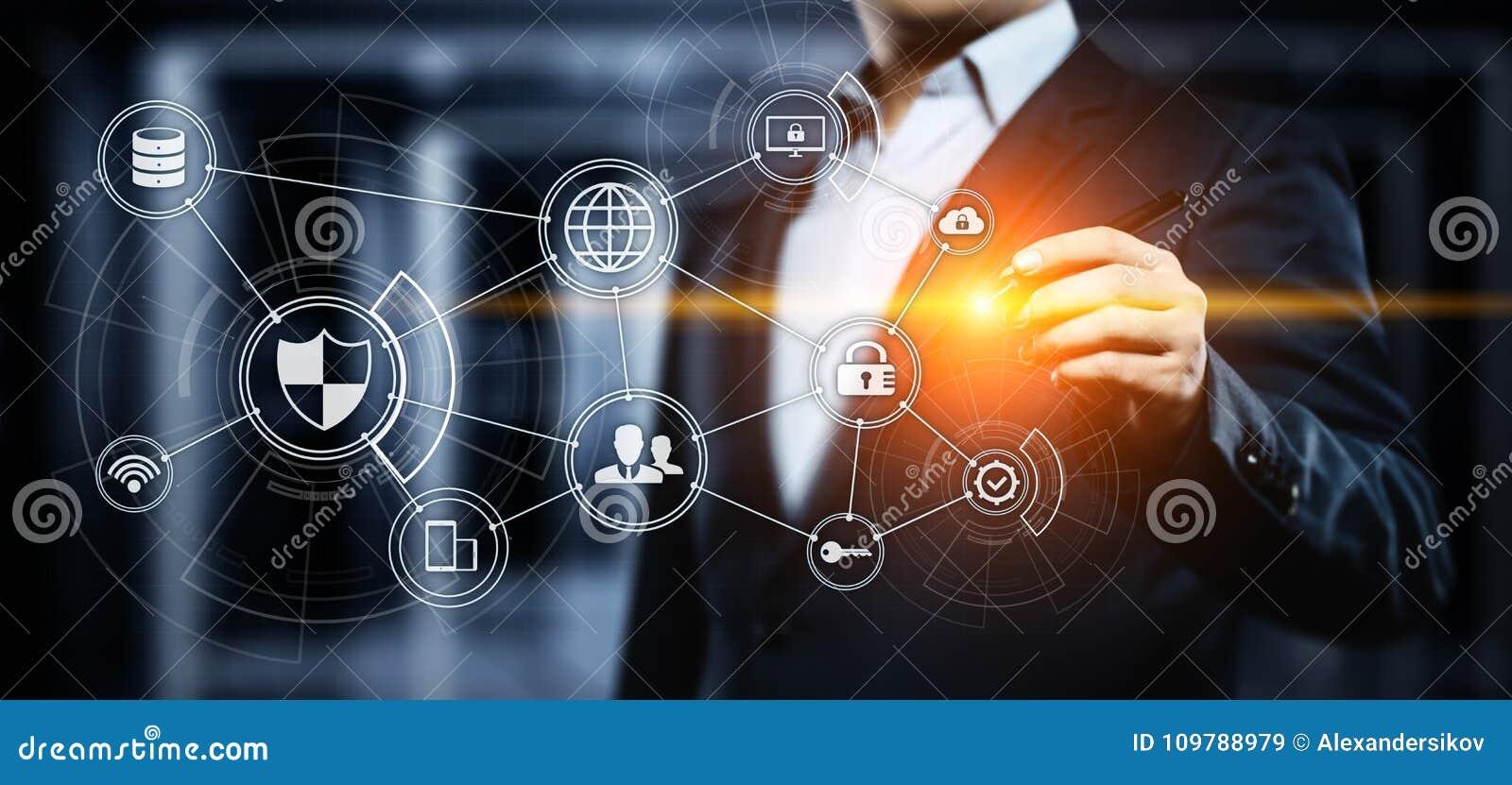 De Commerciële van de de Veiligheidsprivacy van gegevensbeschermingcyber Technologieconcept van Internet