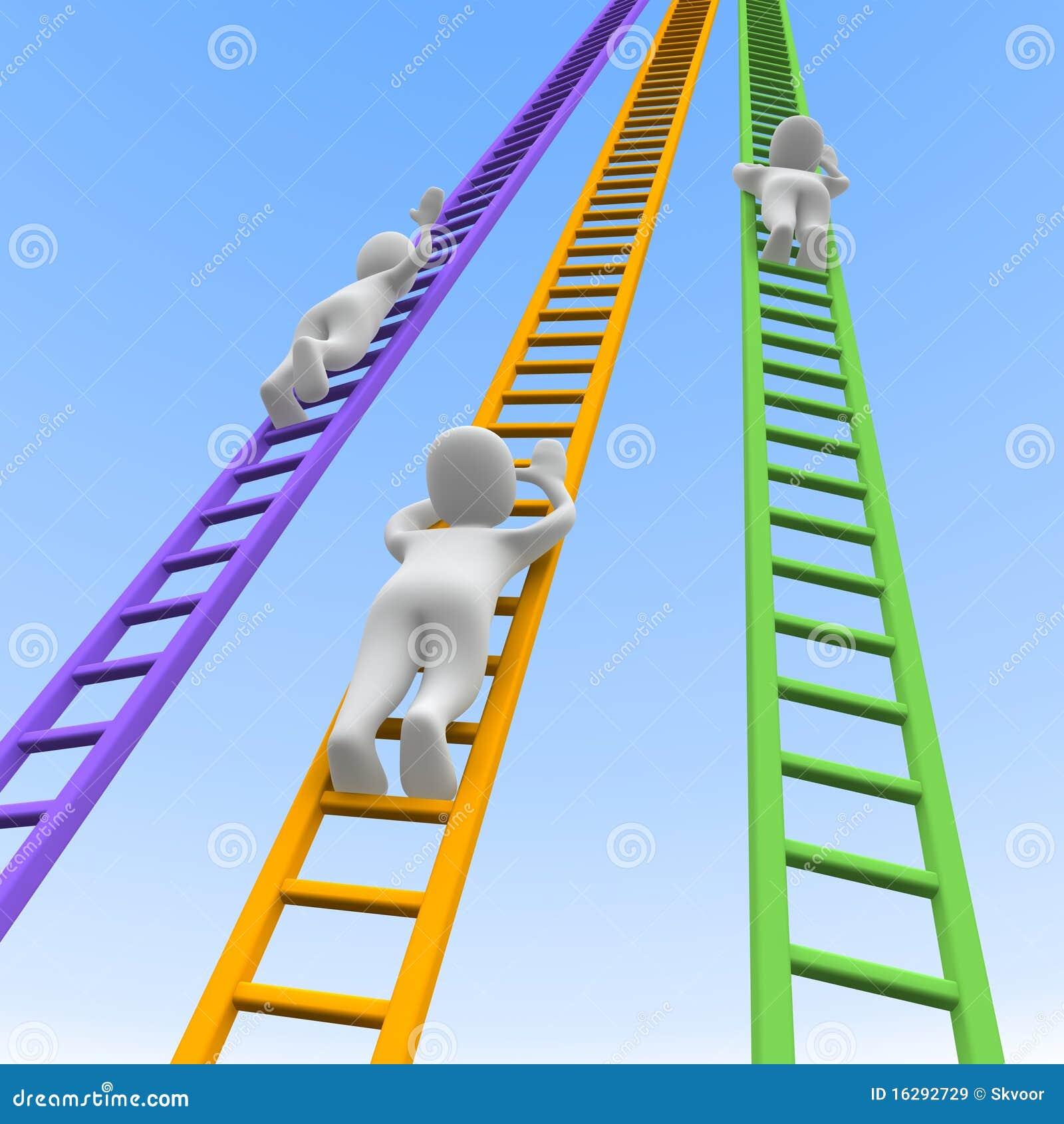 De Concurrentie En Ladders Royalty-vrije Stock ...