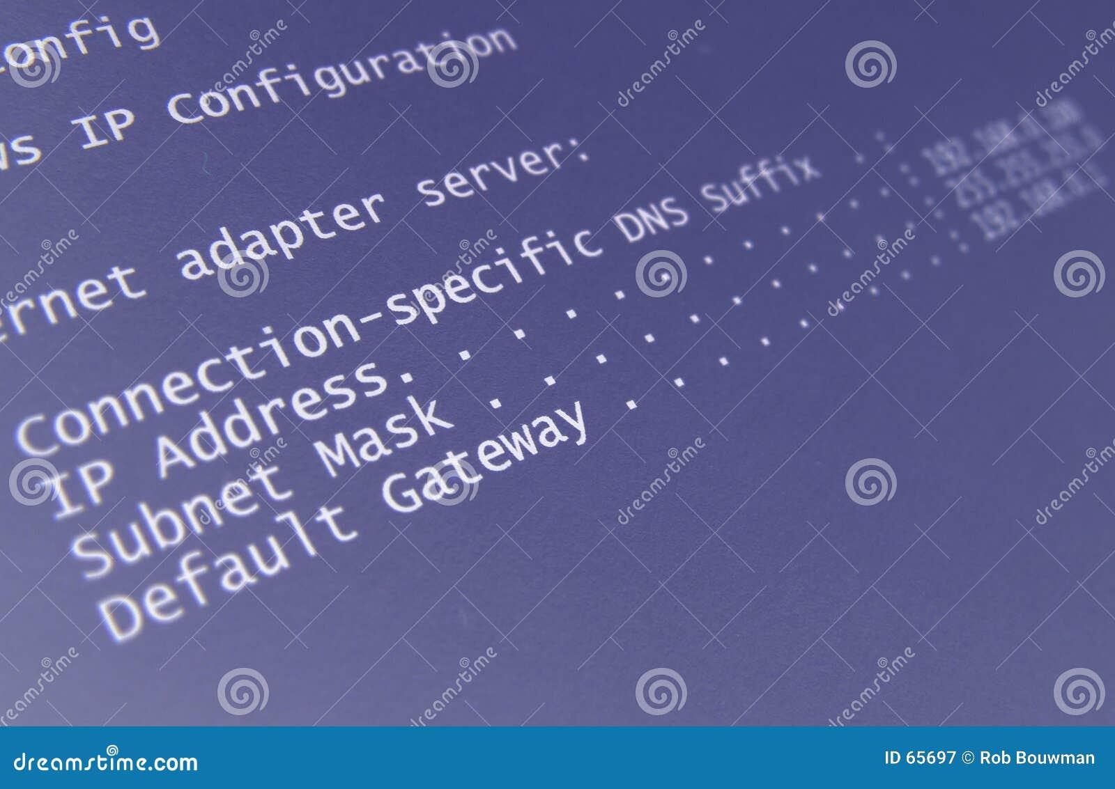 De configuratie van het netwerk