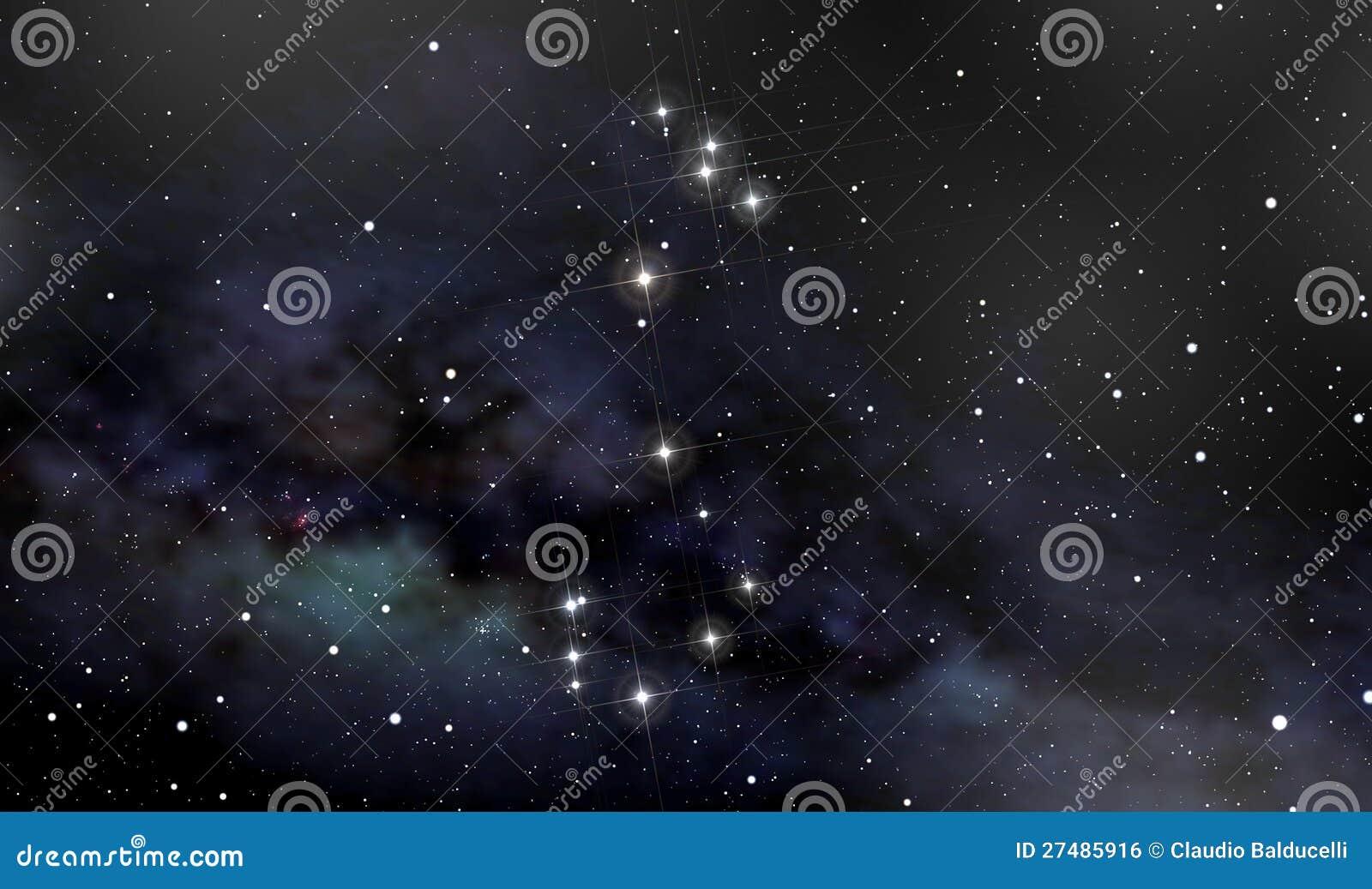 De constellatie van de schorpioen in de nachthemel