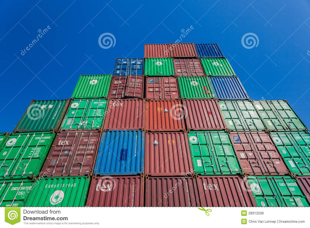 Containers stapelen