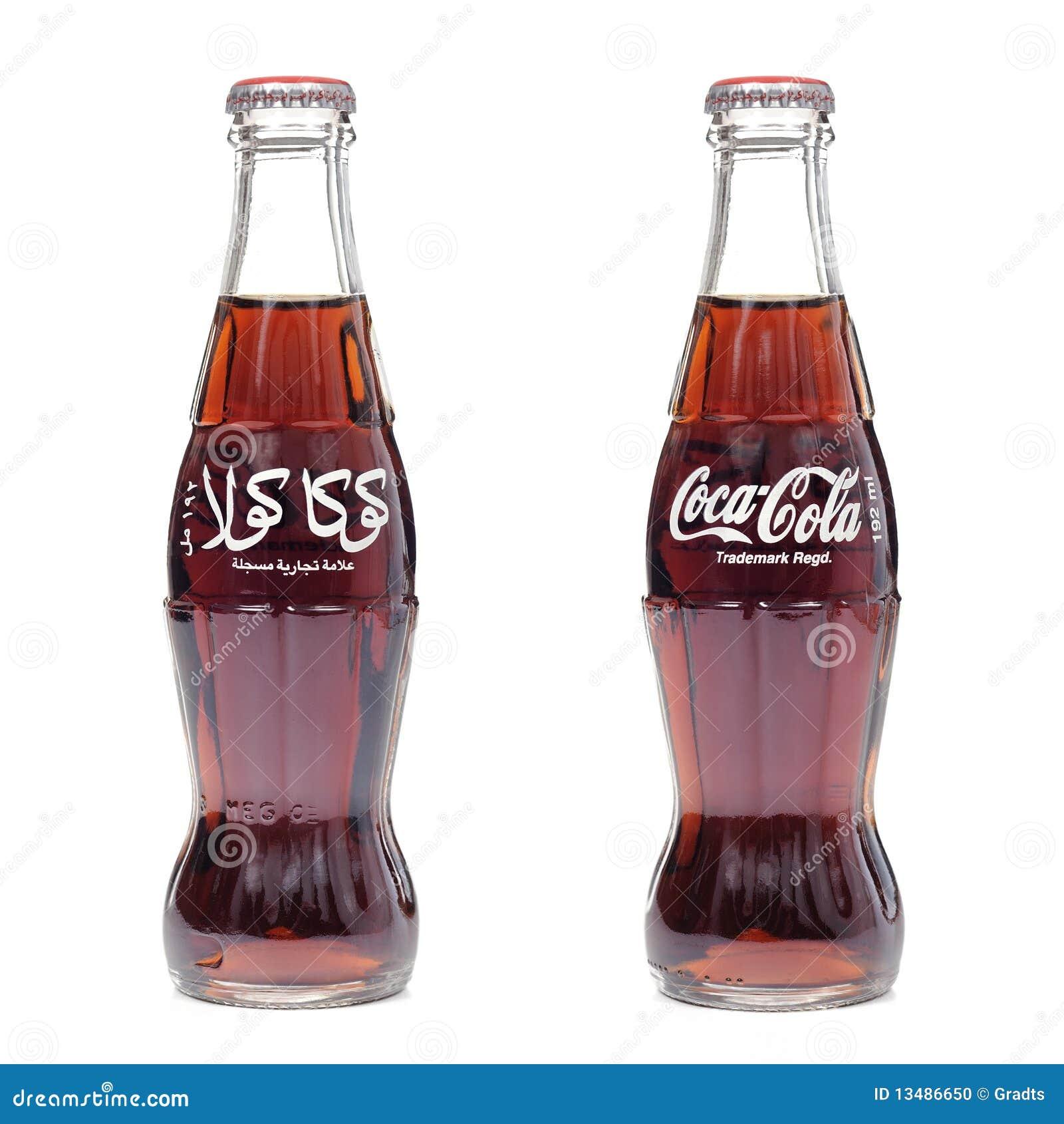 De contourfles van de coca-cola