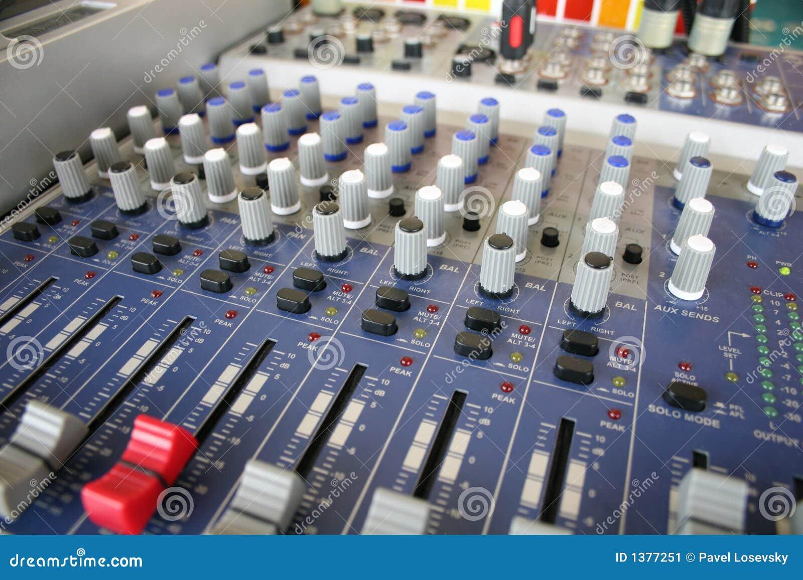 De controle van de muziek