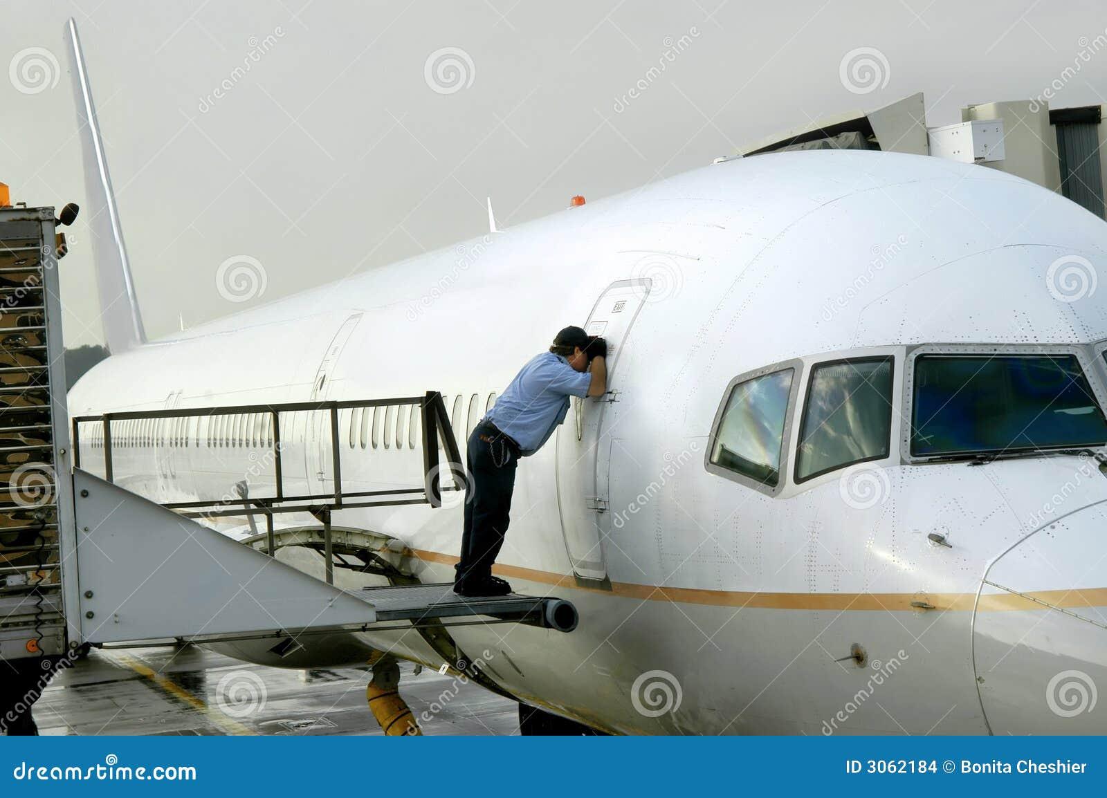 De Controle van het vliegtuig