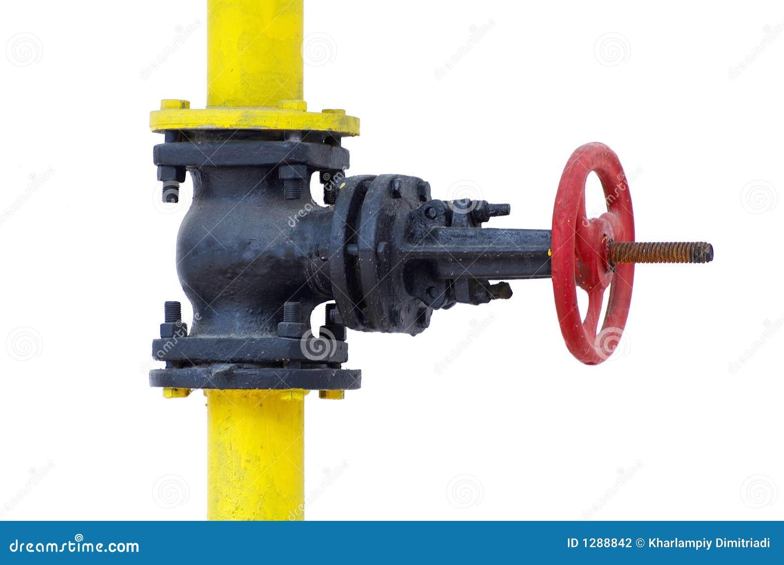 De controleklep van het gas