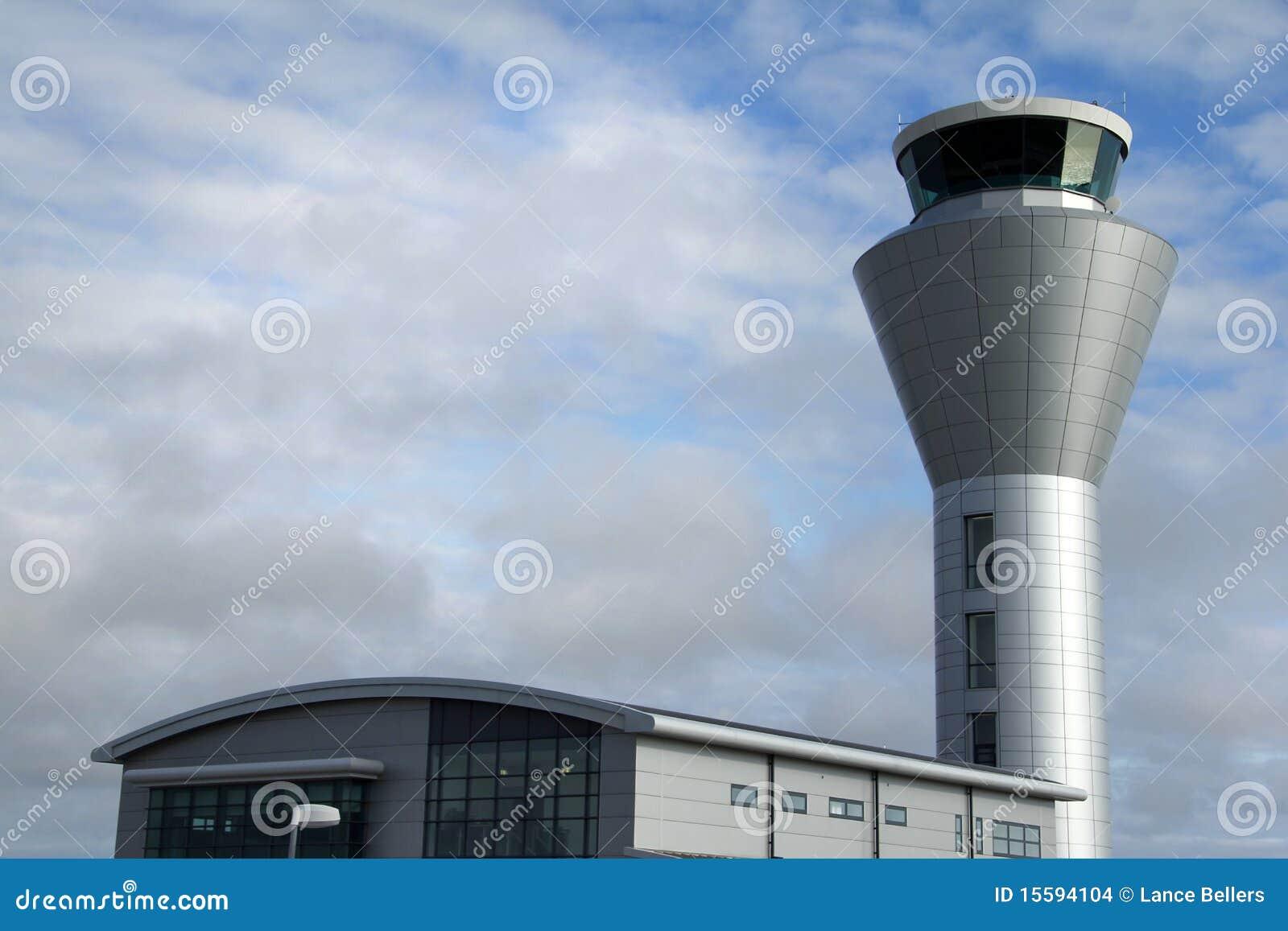 De controletoren van de luchthaven