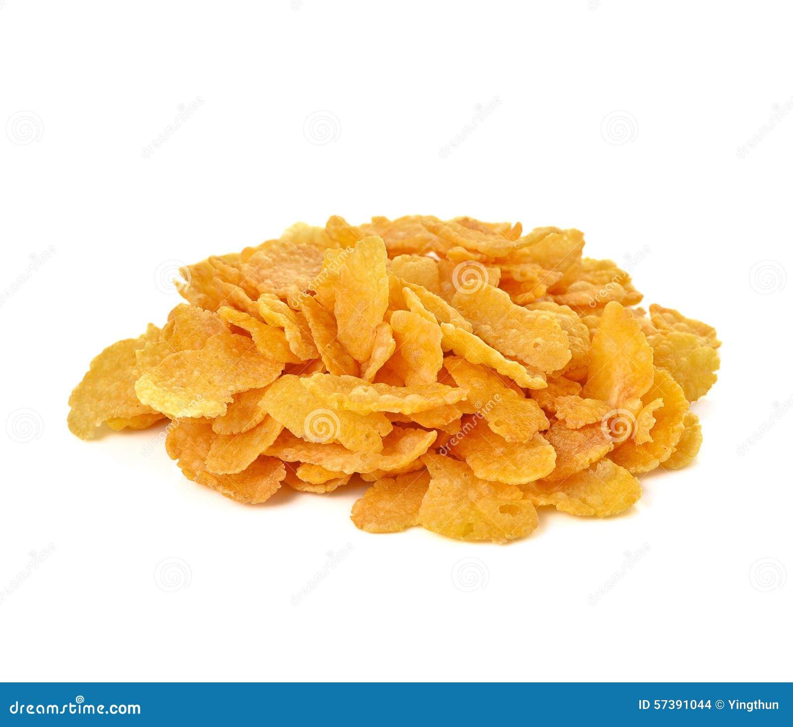 De cornflakes, cornflakes isoleerden witte achtergrond