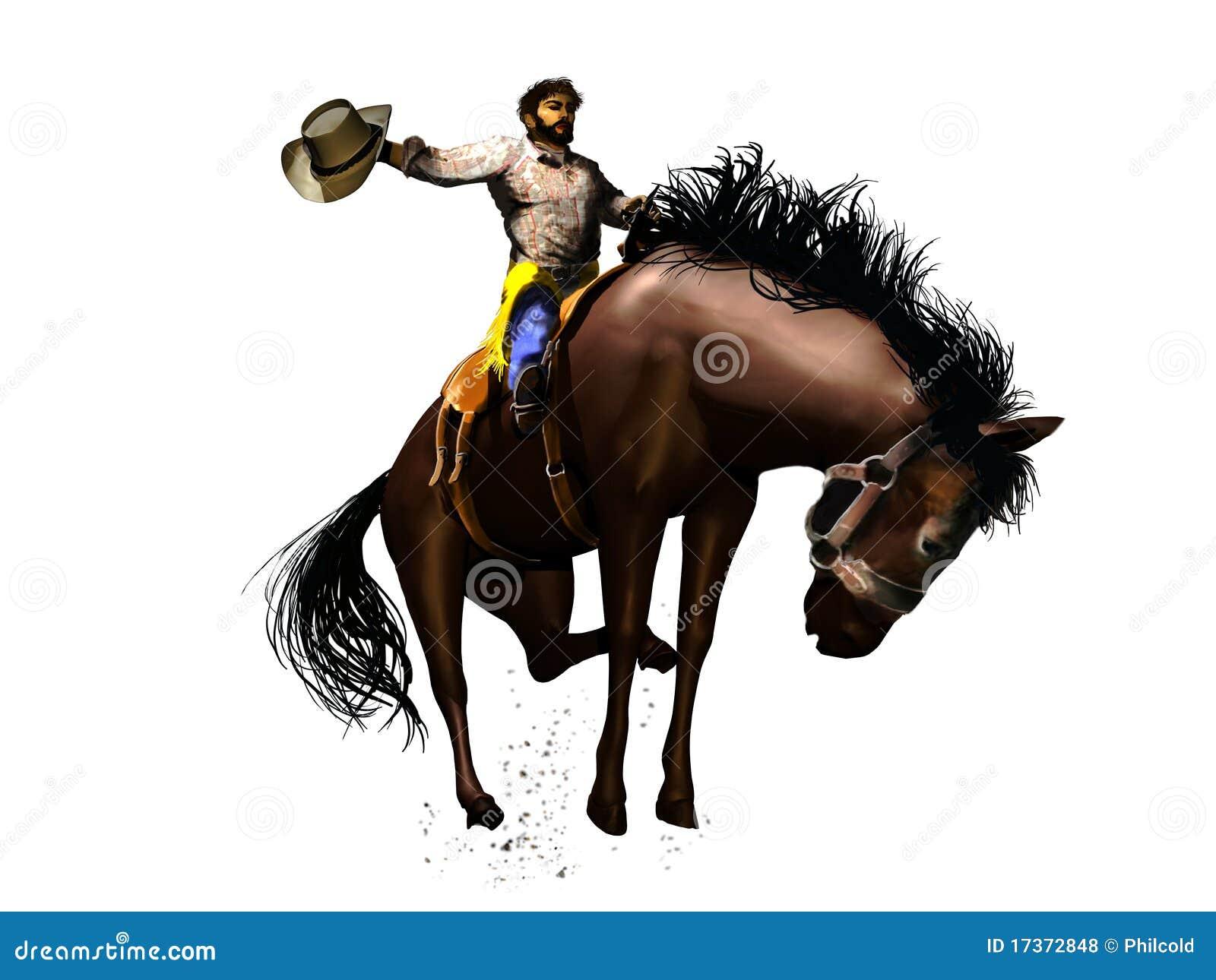De cowboy van de rodeo