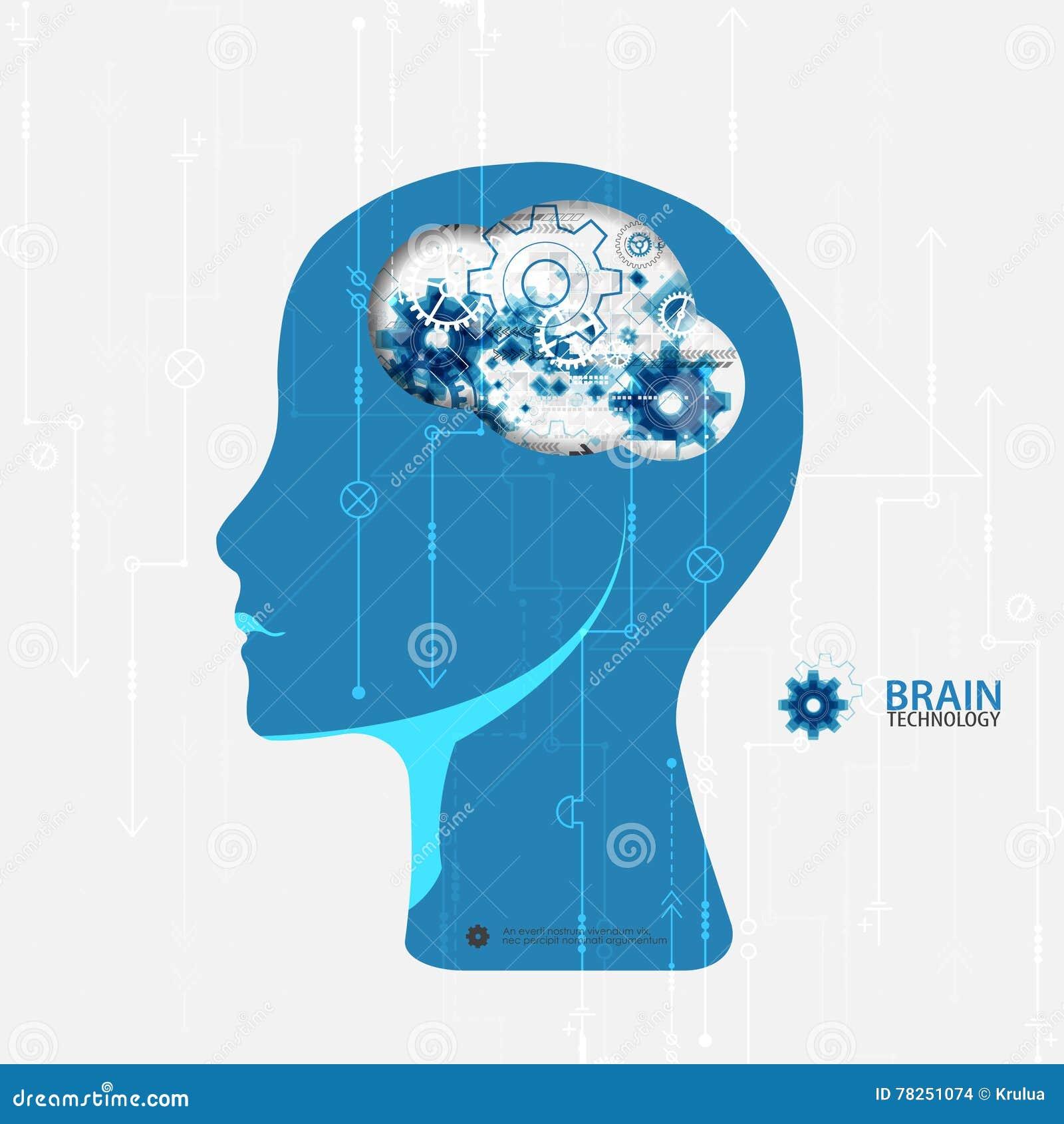 De creatieve achtergrond van het hersenenconcept