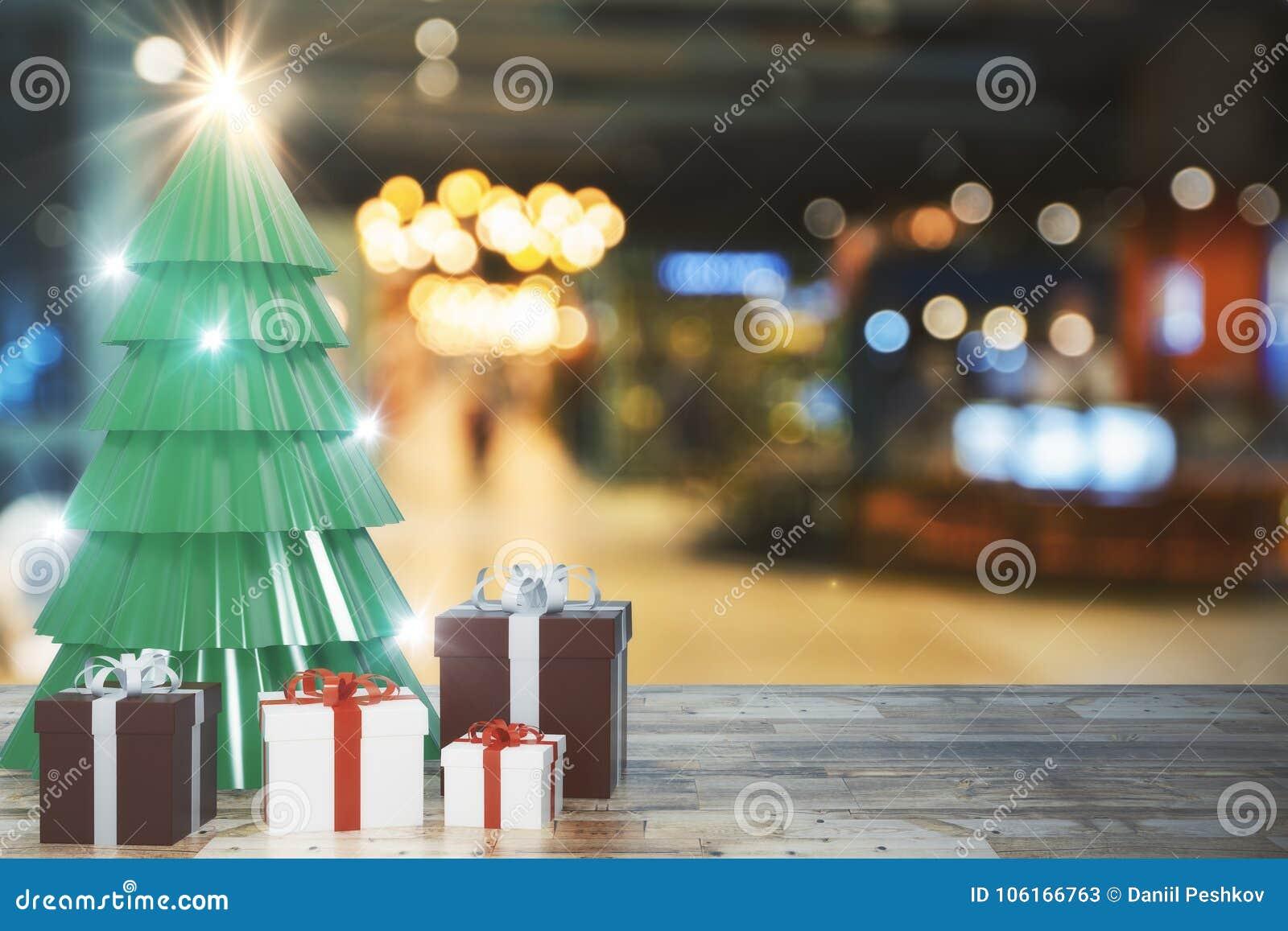De creatieve achtergrond van de Kerstmisboom