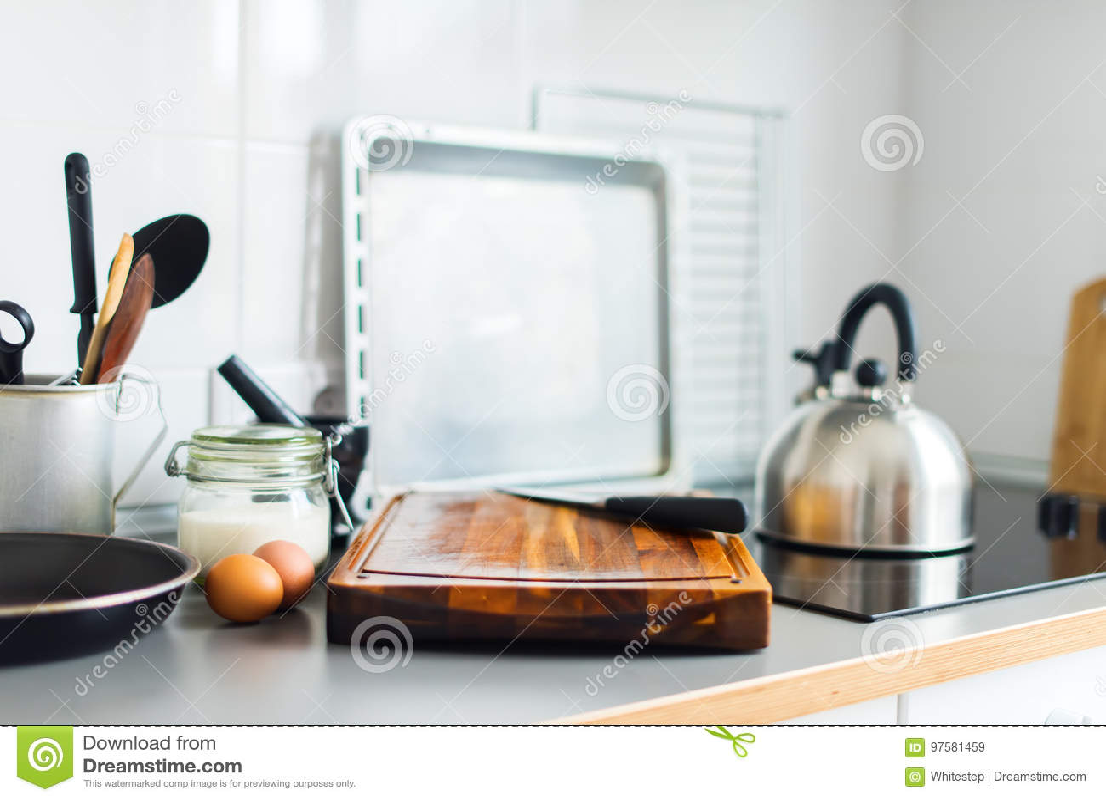 De Cuisine Toujours Orange Rustique D Articles De Tableau De Plats