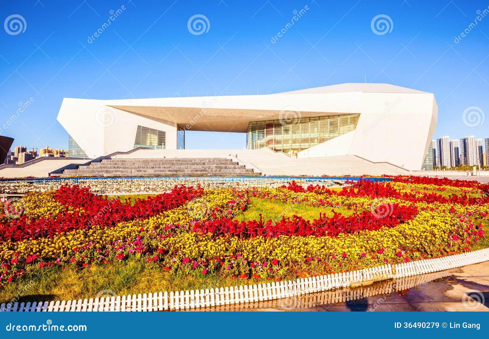 De cultuur nieuw Groot theater oriëntatiepunt-Shanxi van Tai-Yuan