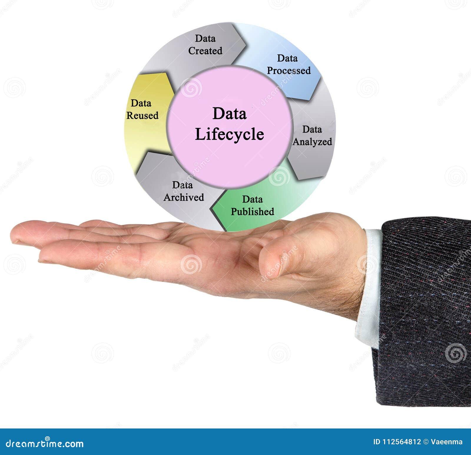 De cyclus van het gegevensleven