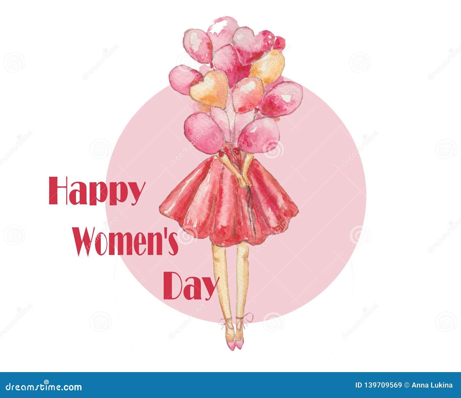 De Dag mooie dame van de gelukkige Vrouw