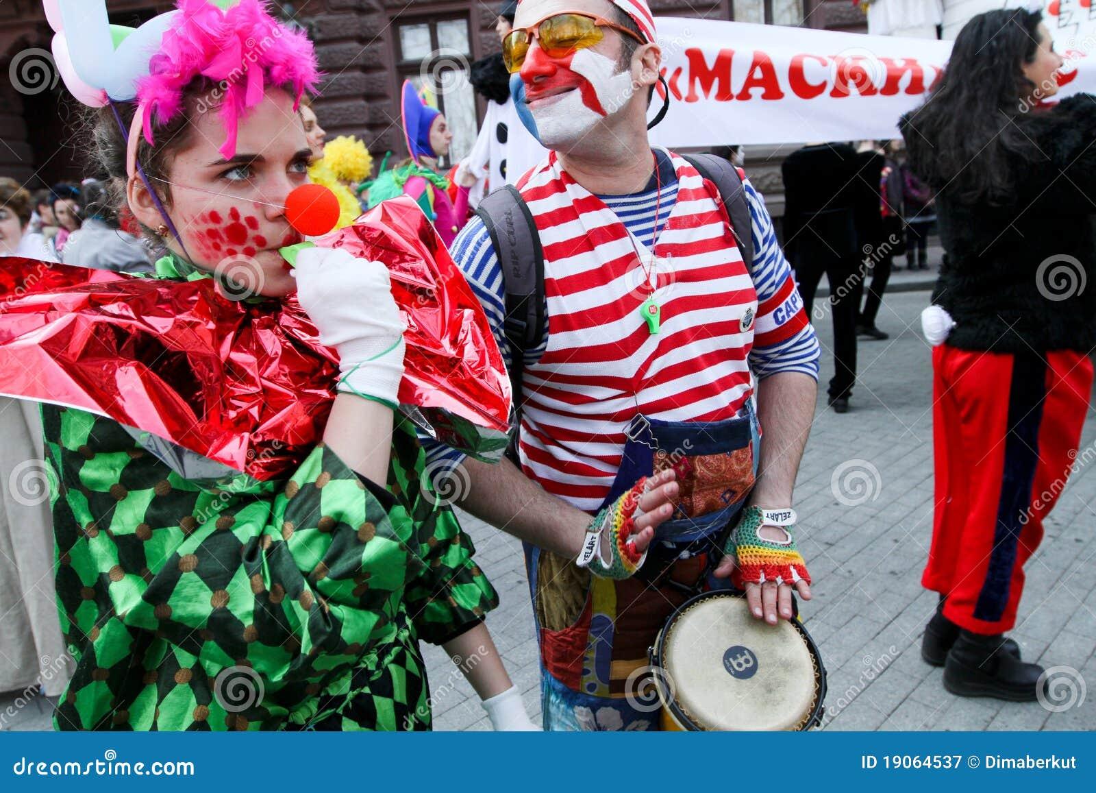 De Dag van de Dwazen van april in de Oekraïne.