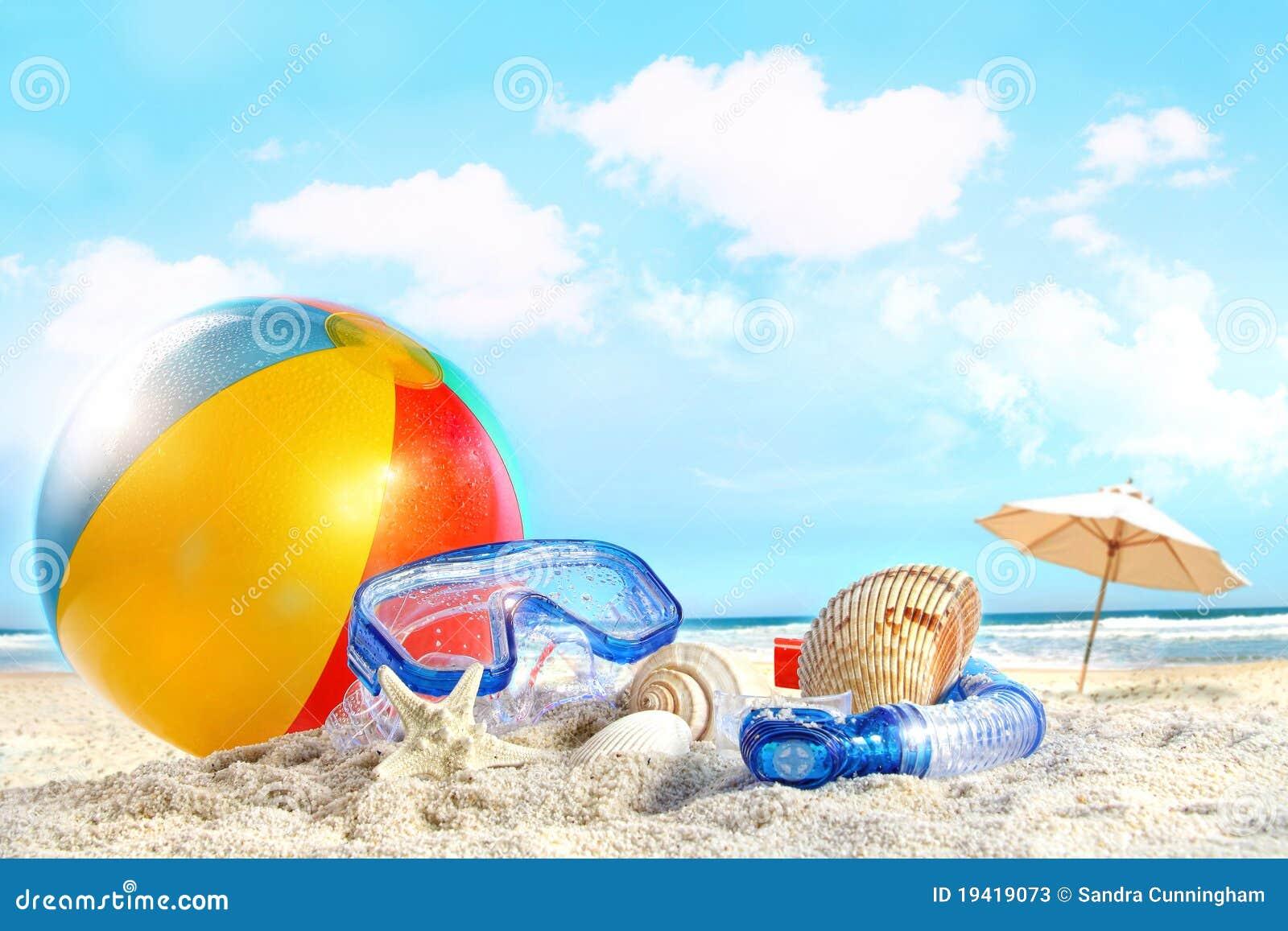 De dag van de pret bij het strand