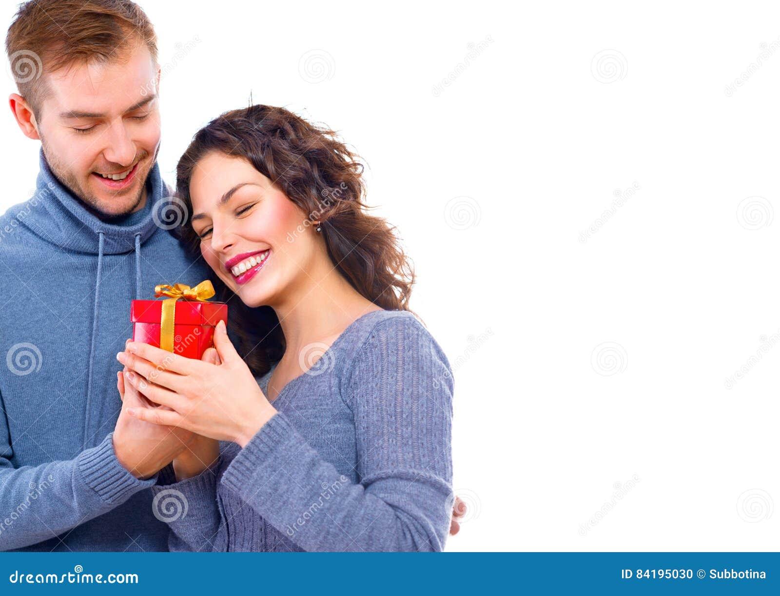 De dag van de valentijnskaart `s Gelukkig jong paar