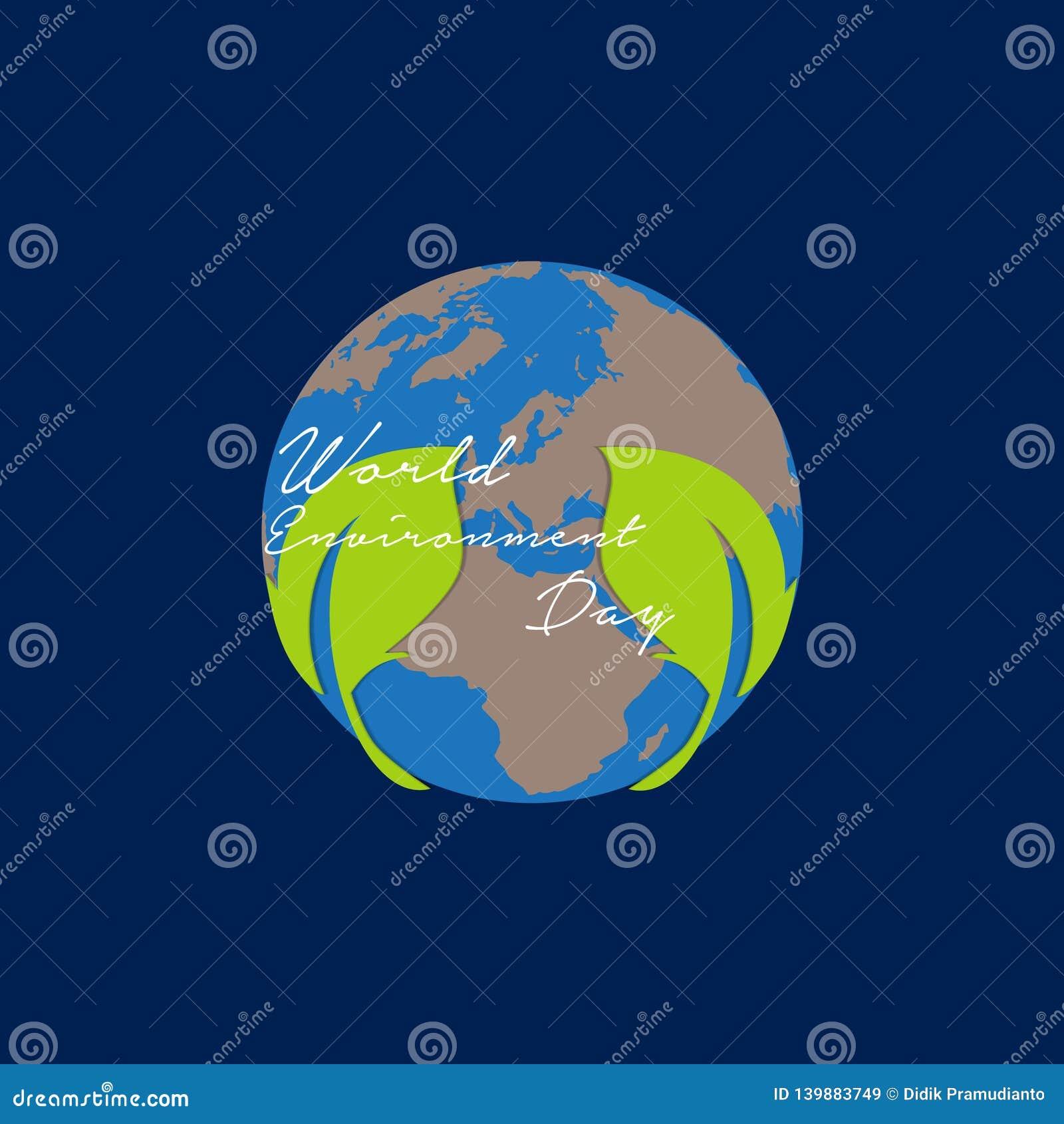 De dag van het wereldmilieu voor groene aarde