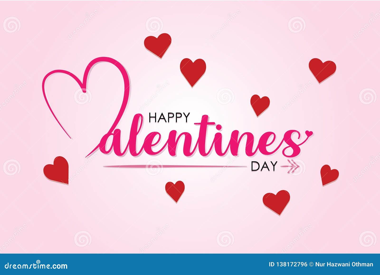 De Dag van Valentine met Kleurenachtergrond