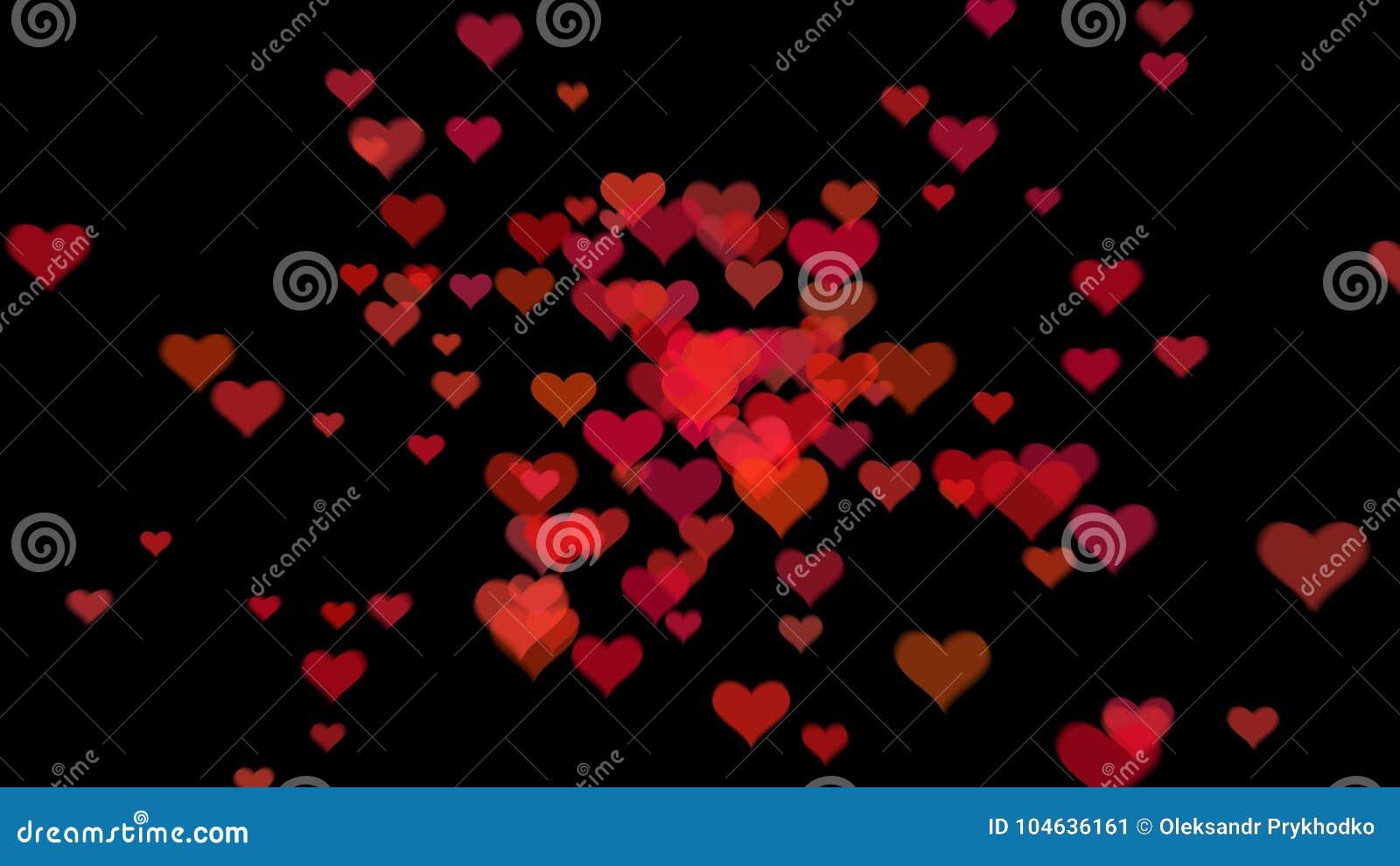 Download De Dagachtergrond Van De Valentijnskaart `s Met Harten Stock Afbeelding - Afbeelding bestaande uit vorm, art: 104636161