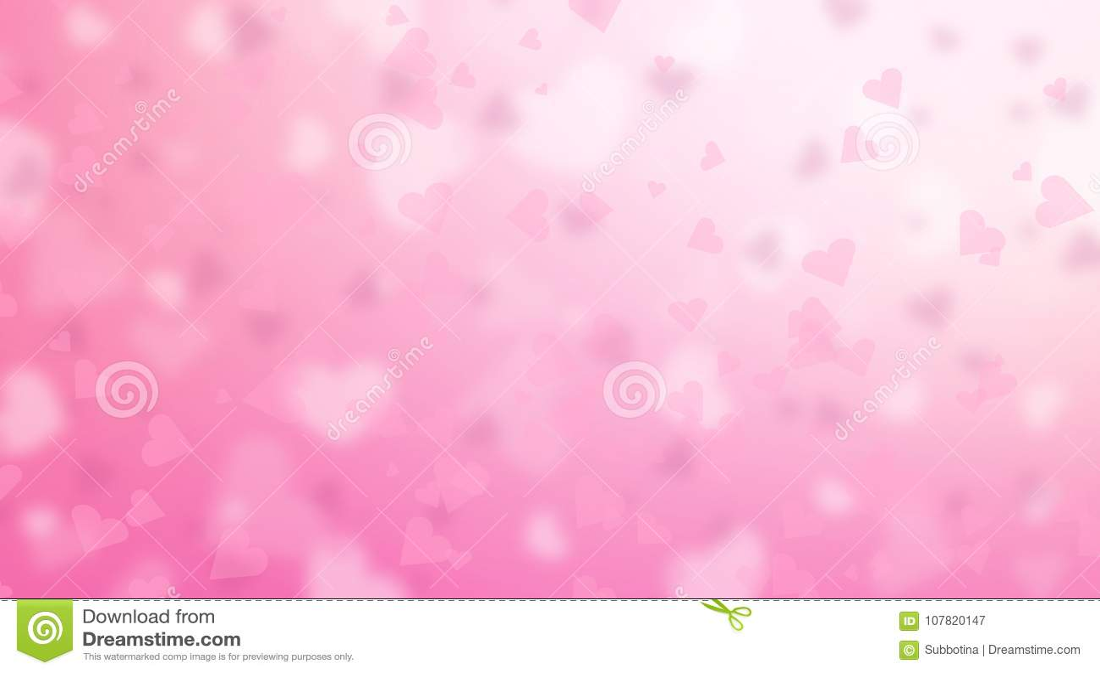 De dagachtergrond van Valentine ` s Abstracte roze hartenachtergrond