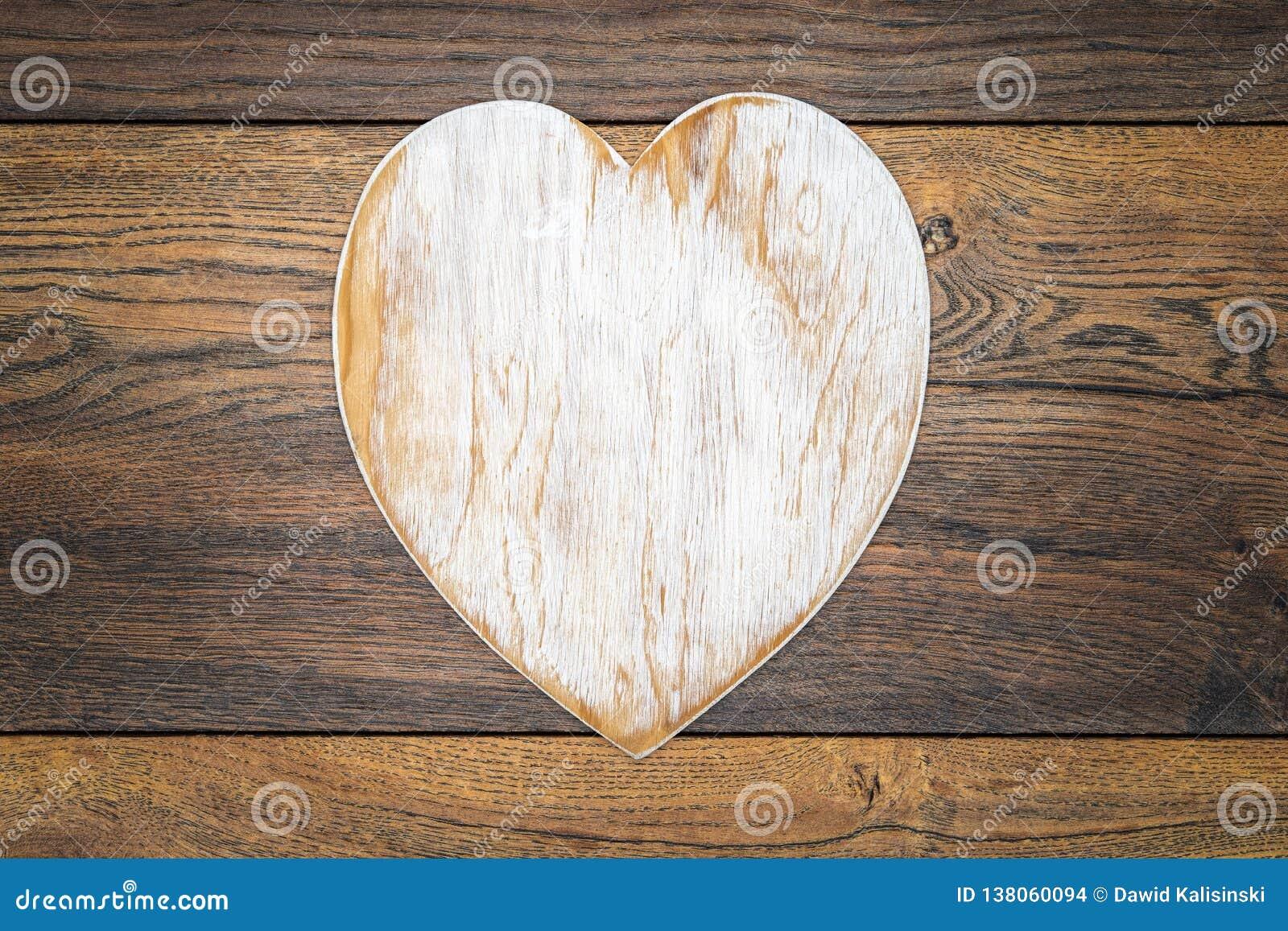 De Dagcad van Retro klassiek Valentine, groot wit geschilderd houten die hert en in centrum op uitstekende eiken panelen wordt ge