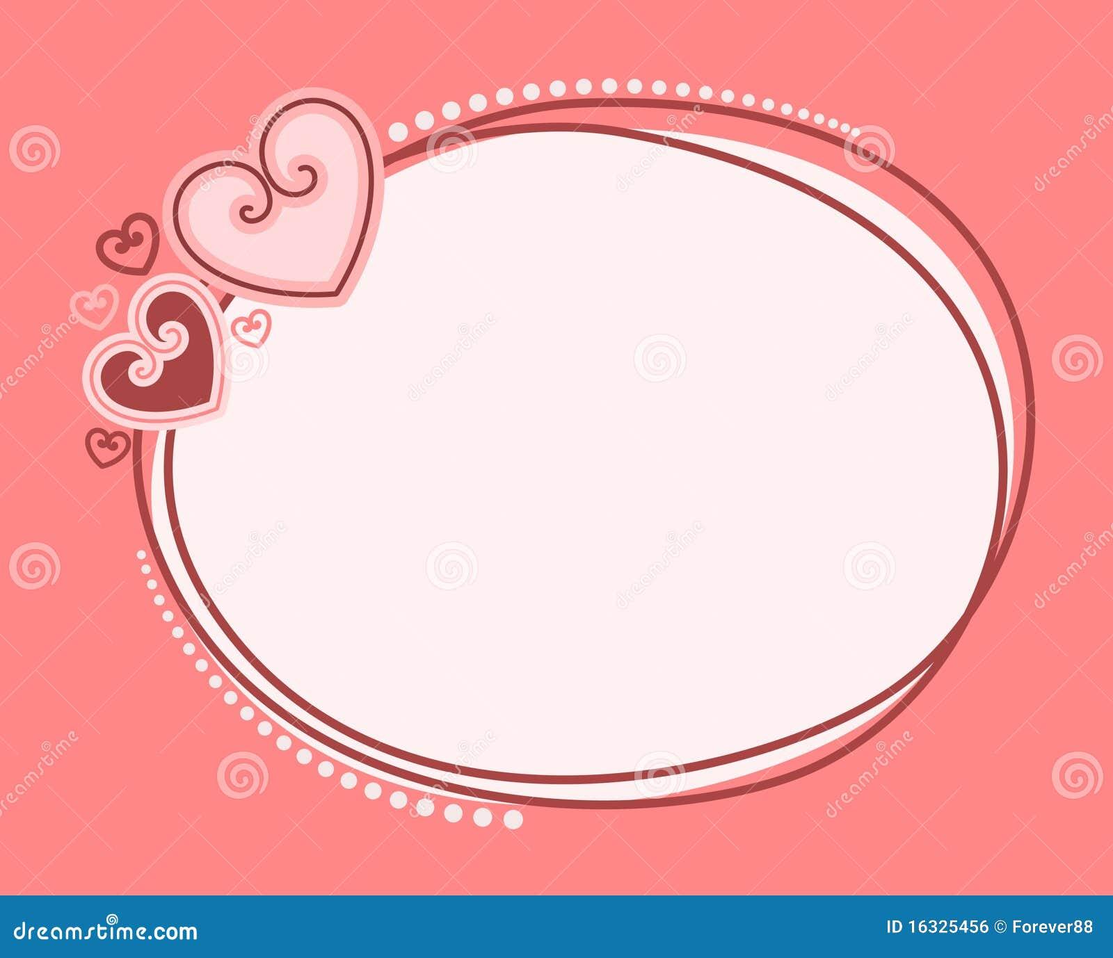 De dagframe van de valentijnskaart `s met harten voor ontwerp