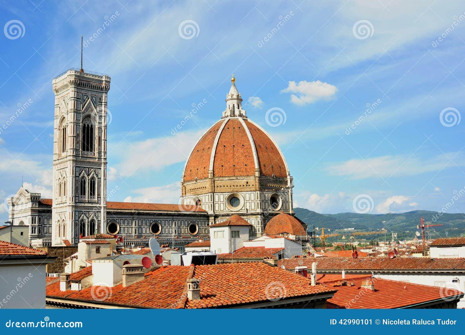 De daken in het centrum van de stad van Florence Italië