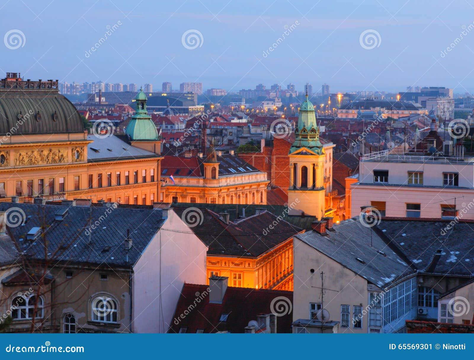 De daken van Zagreb