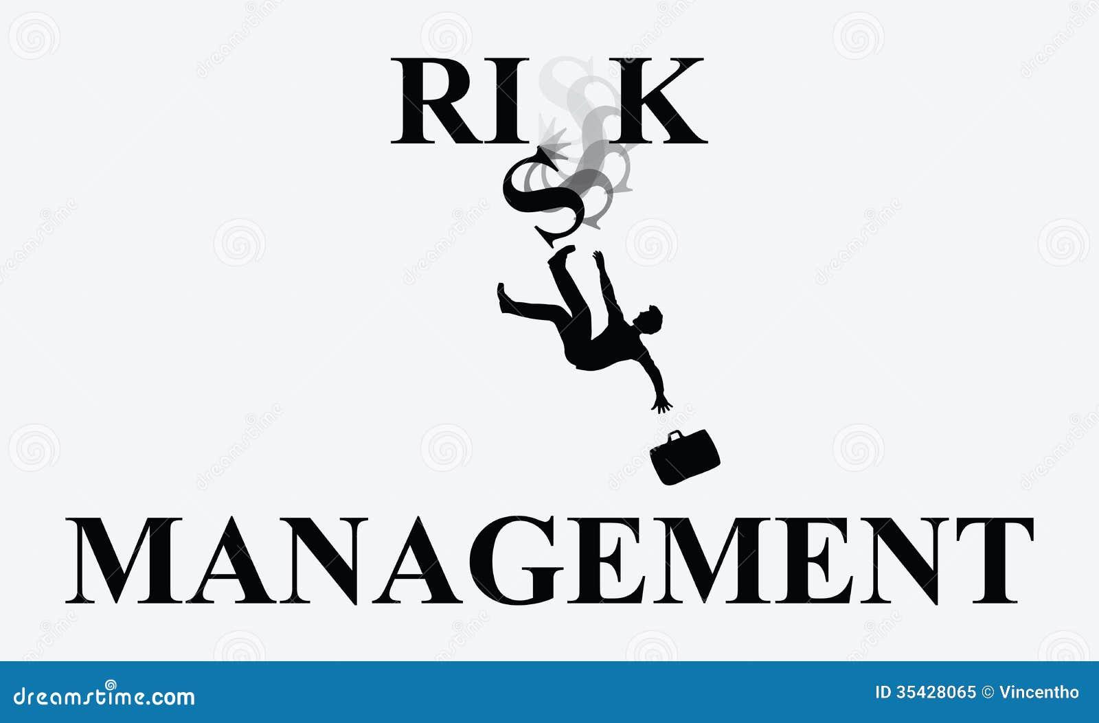 De Dalende Illustratie van de risicobeheermens