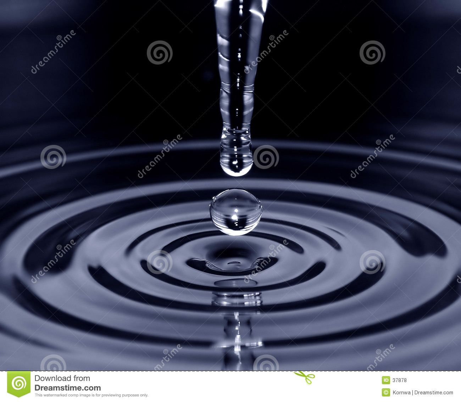 De daling van het water