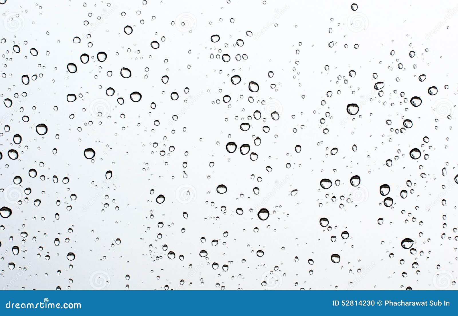De daling van het water op glas