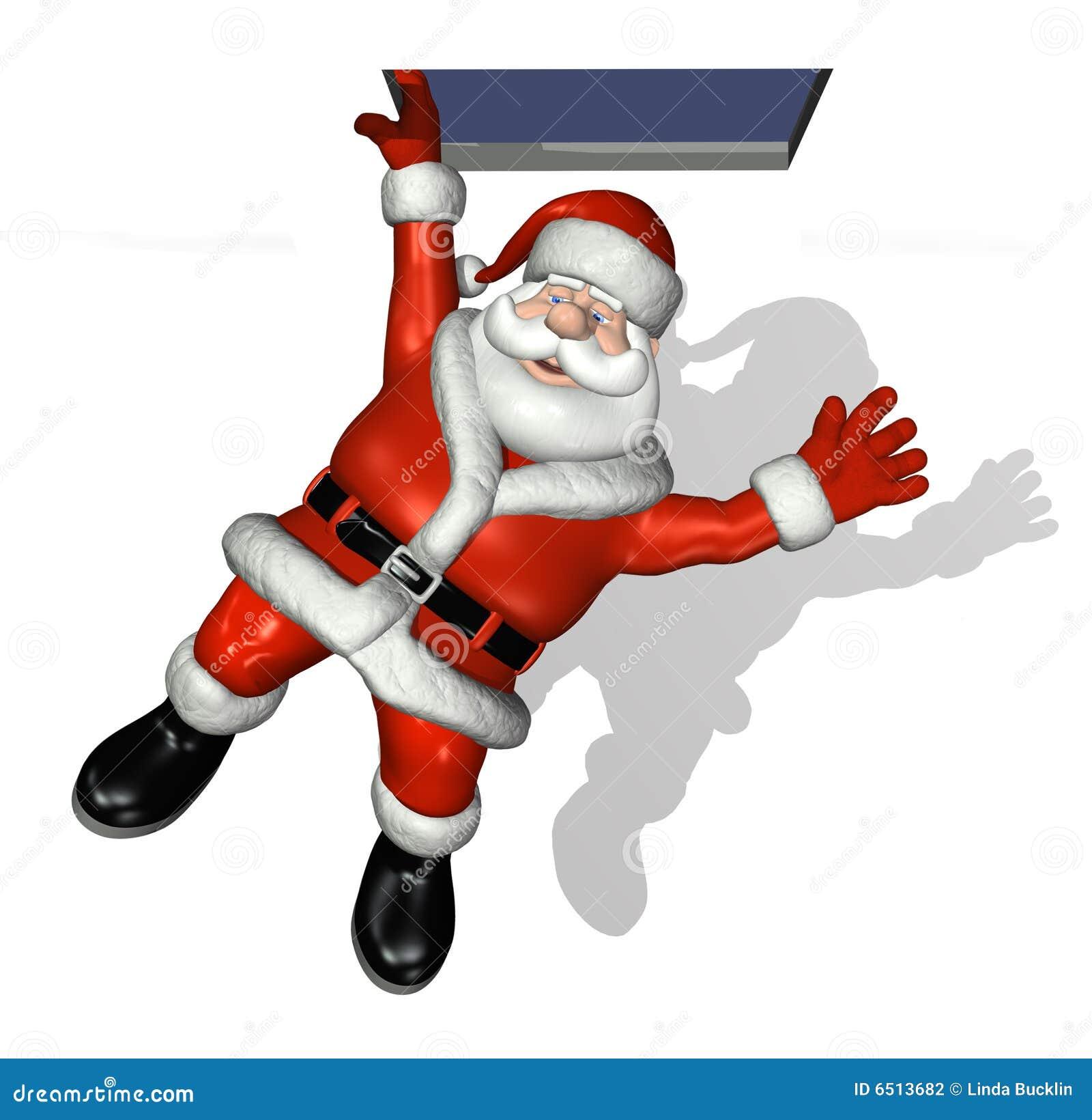De Dalingen van de kerstman langs