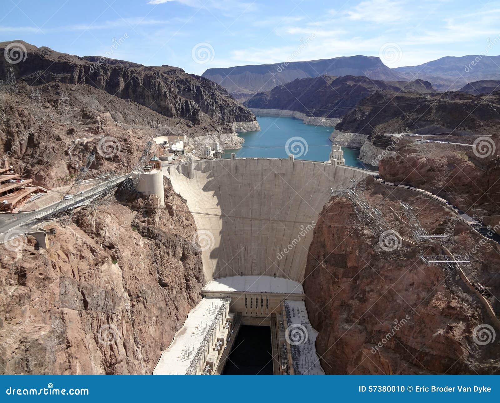 De Dam van Hoover en de Rivier van Colorado