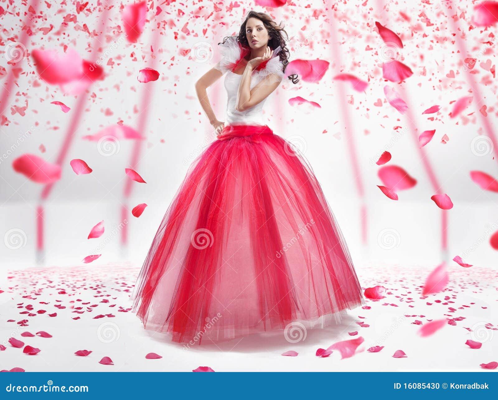 De dame van de schoonheid