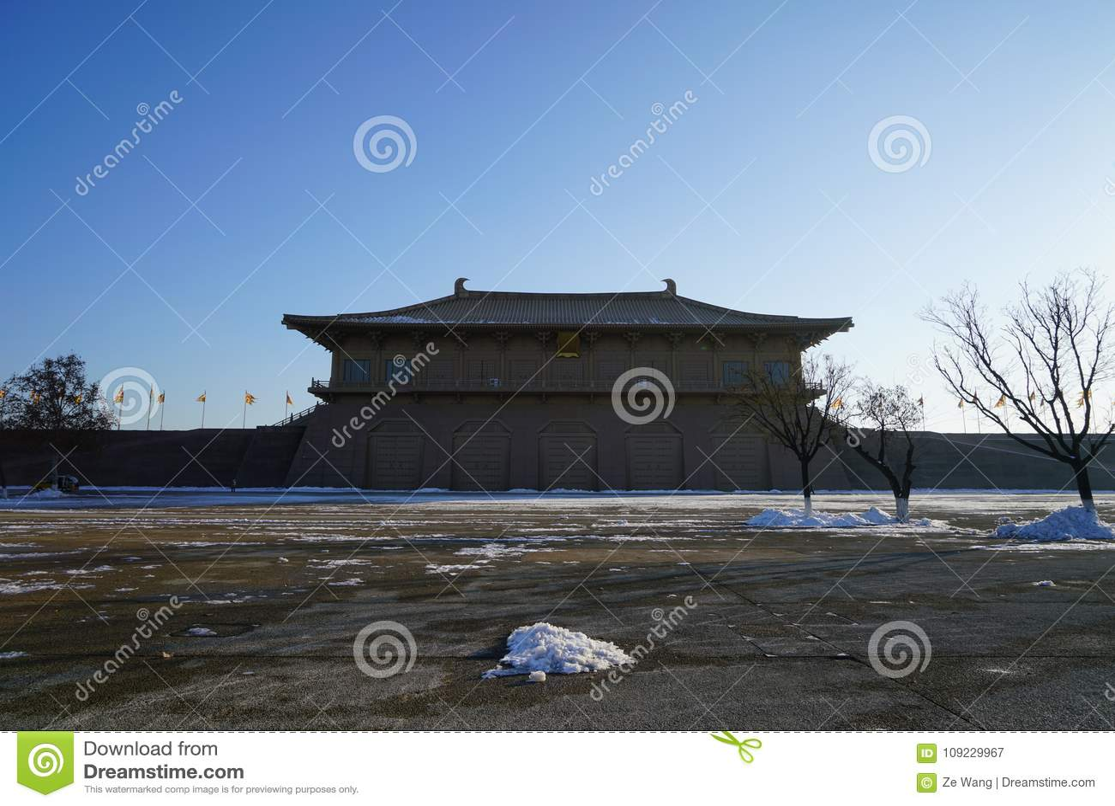 ` De Daming Palace Relic Park Xi um Shaanxi China