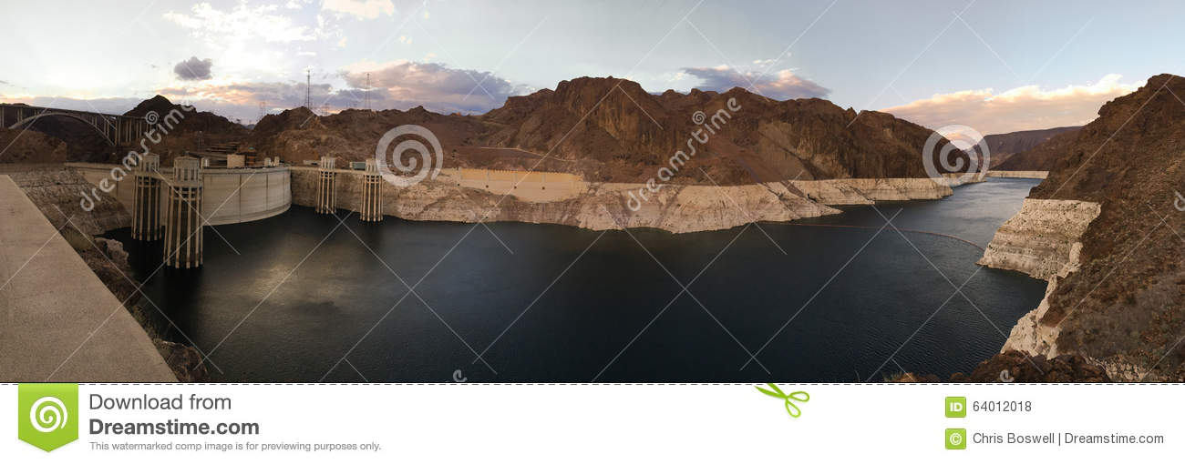 De Dammeer Mead Colorado River Hydro-Electric van Supr Panoramisch Hoover