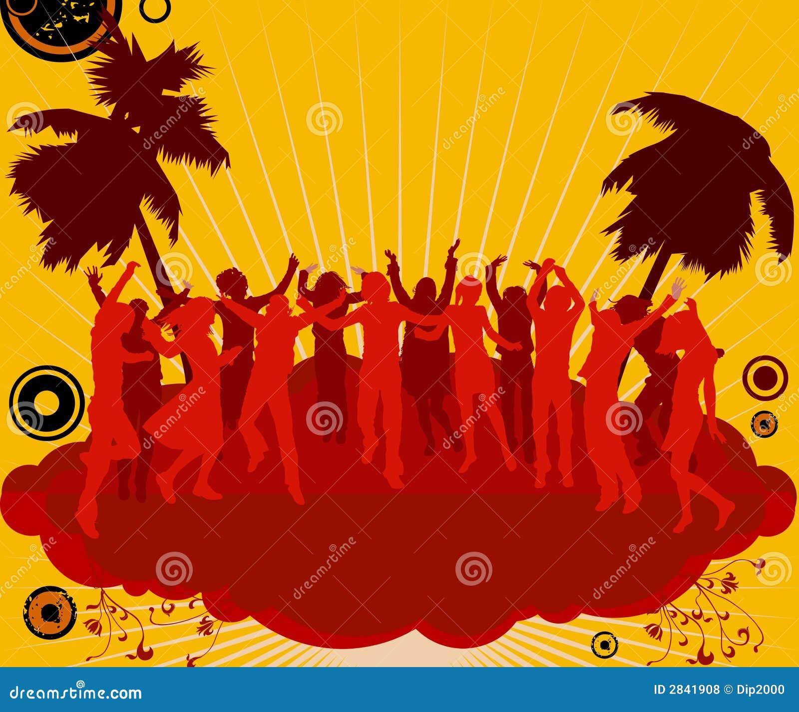 De dansers van de partij
