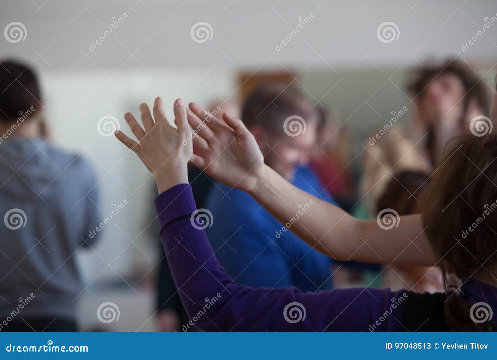 De danserscontact van de danshand