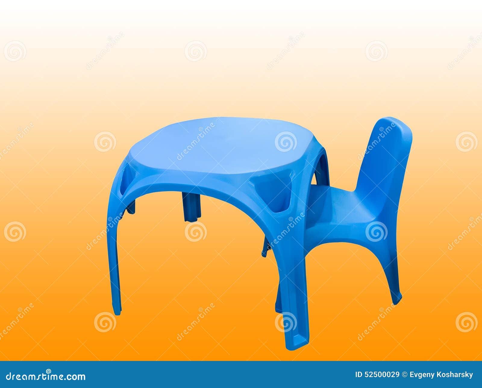 De de plastic lijst en stoel van kinderen stock afbeelding