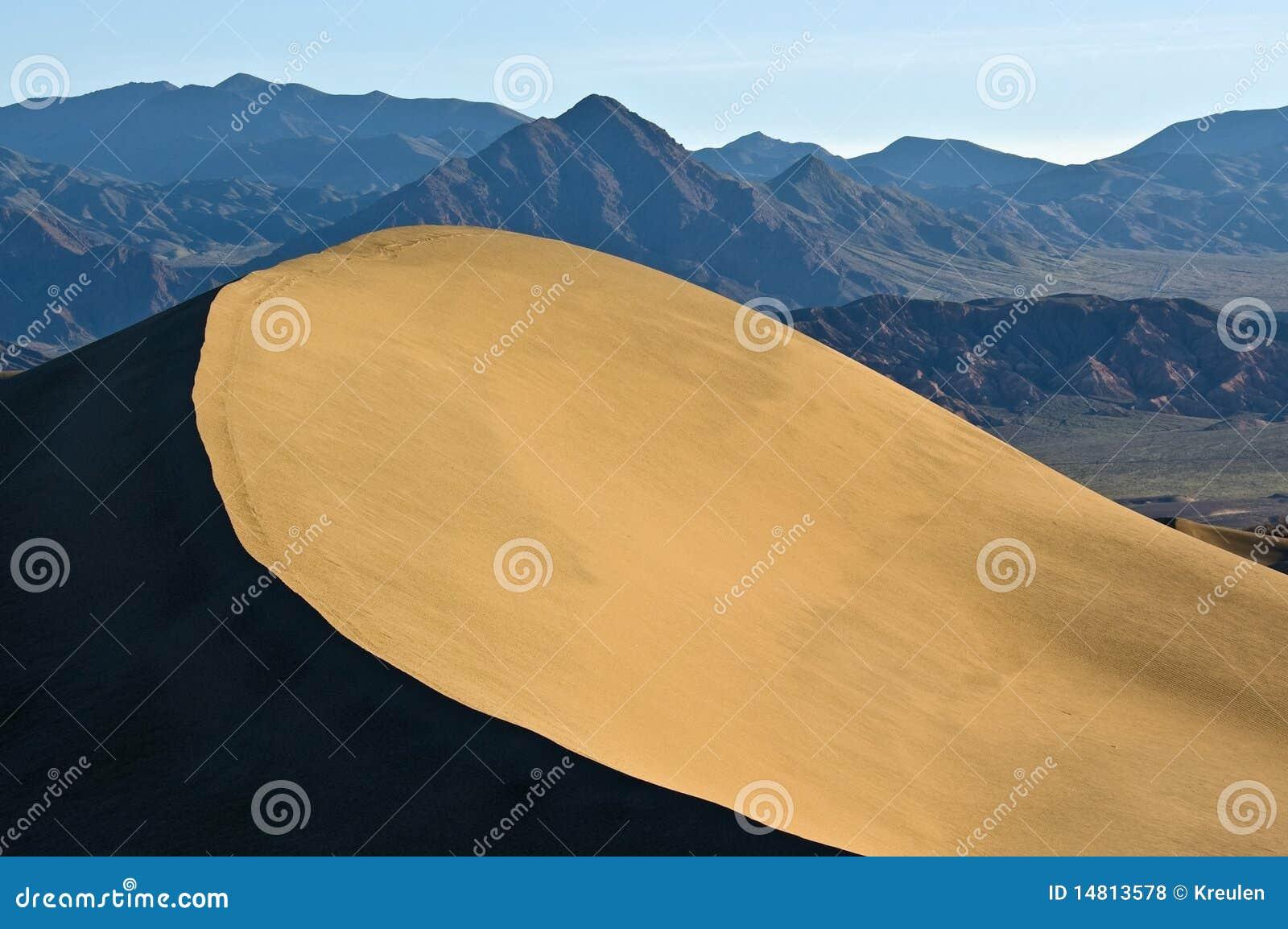 De de tegenover elkaar stellende Rand en Bergen van het Duin van het Zand