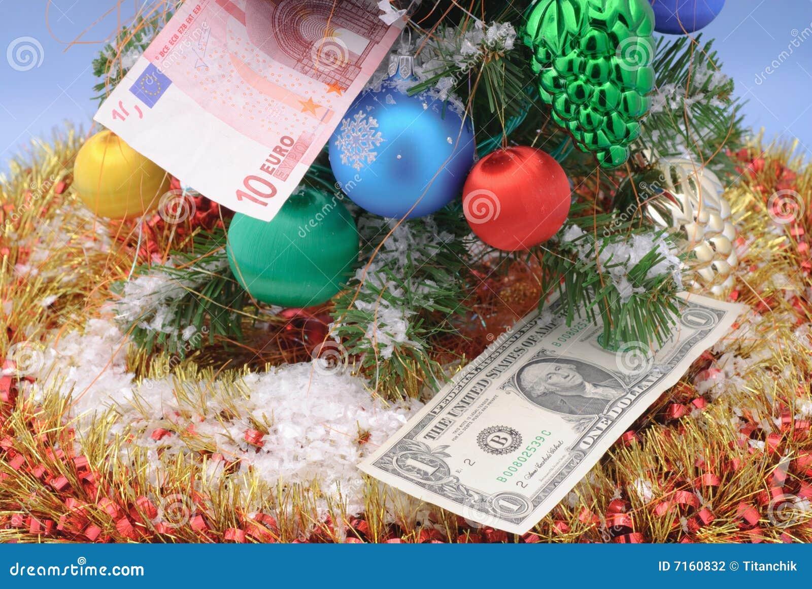 De decoratie en het geld van kerstmis stock fotografie afbeelding 7160832 - Decoratie van de villas ...