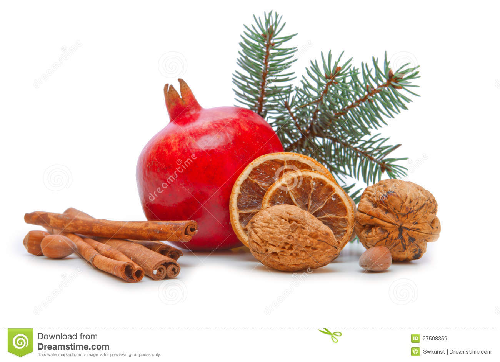 De decoratie van de granaatappel en van kerstmis royalty vrije stock afbeeldingen beeld 27508359 - Decoratie van de kamers van de meiden ...