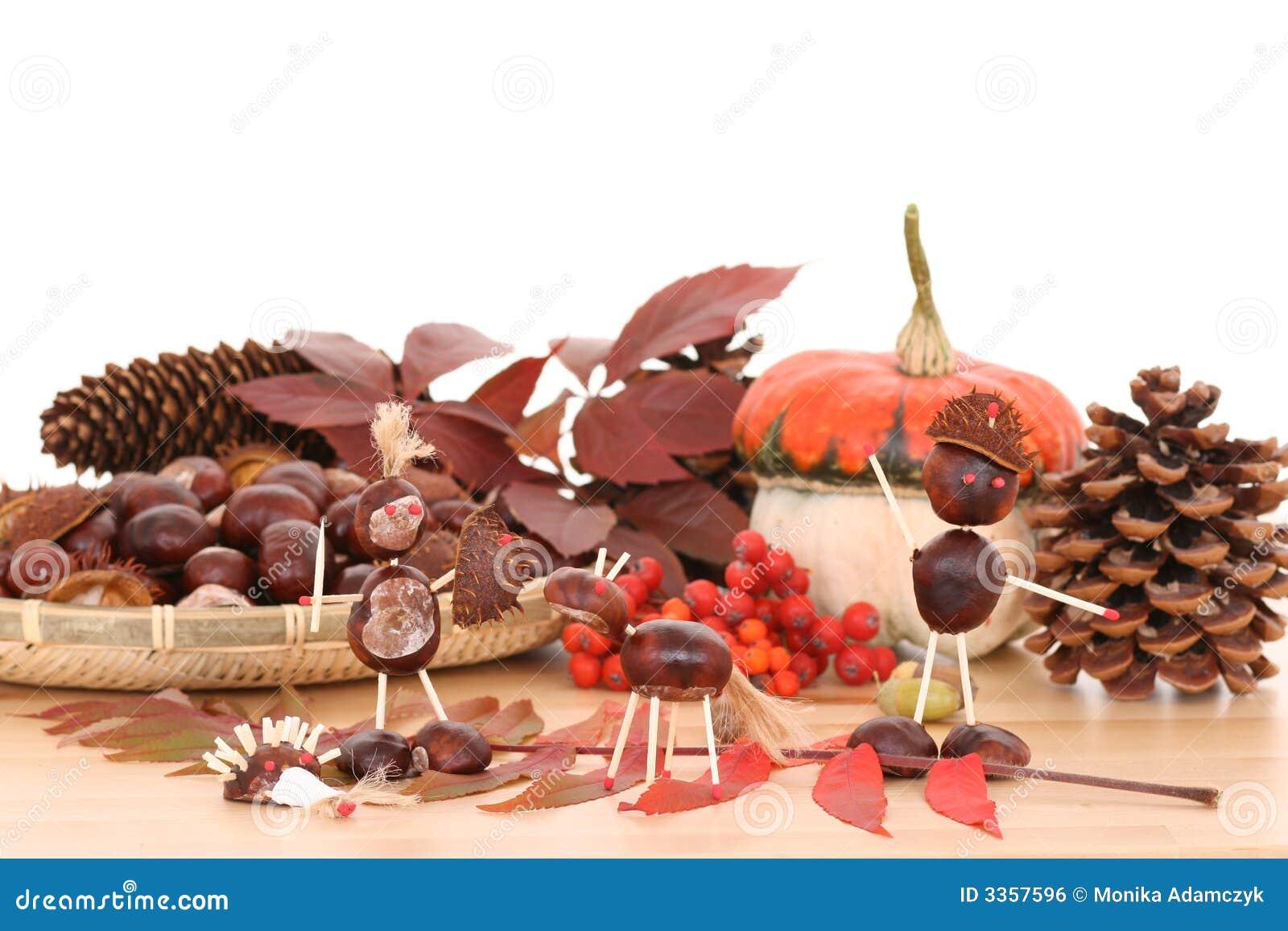 De decoratie van de herfst