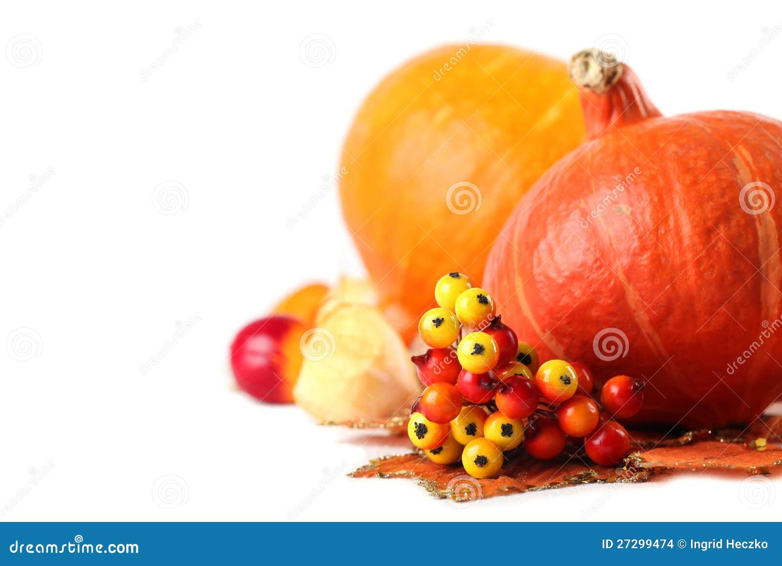 De decoratie van de herfst met hokkaido pompoenen stock afbeeldingen afbeelding 27299474 - Decoratie van de villas ...